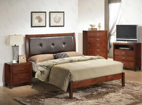 G1200ATBNTV 3 Piece Set including Twin Bed, Nightstand and Media Chest  in Cherry