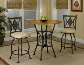 Sunset Dart Collection CR-Y2091-3PC 3 PC Bar Table Set with Pub Table + 2 Bar Stools