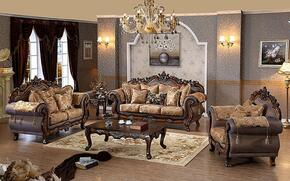 Seville 693-S-L-C 3 Piece Living Room Set with Sofa + Loveseat and Chair in Cherry Finish