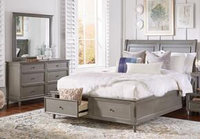 Avignon Youth Collection 1618QPBDM 3-Piece Bedroom Set with Queen Storage Bed, Dresser and Mirror in Grey