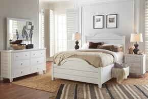 Chesapeake Collection 167391928799KT5SET 5 PC Bedroom Set with Queen Size Storage Bed + Dresser + Mirror + 2 Nightstands in Coastal White Finish