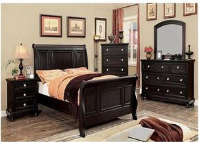 Argusville Collection CM7380QBDMCN 5-Piece Bedroom Set with Queen Bed, Dresser, Mirror, Chest and Nightstand in Espresso Finish