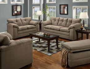 Luna 6565-0302015095  4 Piece Set including Sofa, Loveseat, Chair and a Half and Ottoman  with Tufted Back  in Mineral
