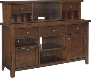 Wassner H5844648 2 PC Large Credenza + Hutch in Dark Brown Finish