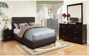 Dillan Collection CM7060GYQBDMN 4-Piece Bedroom Sets with Queen Bed, Dresser, Mirror and Nightstand in Gray