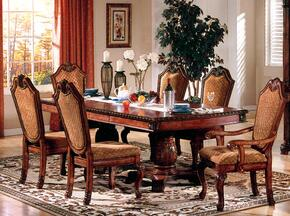 Chateau De Ville Collection 04075CH 7 PC Dining Room Set with Dining Table + 4 Side Chairs + 2 Arm Chairs in Cherry Finish