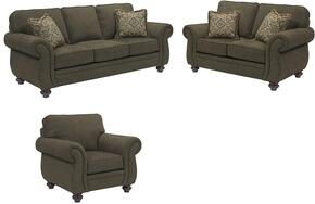 Cassandra 3688QGSLC/8997-28/4054-27/0204-86 3-Piece Living Room Set with Queen Good Night Sleeper, Loveseat and Chair in 8997-28 Body, 4054-27 Pillows, 0204-86 Fringes and Affinity Finish