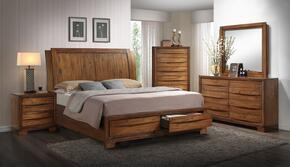 Sonoma Storage Collection SSBJ600SS-BJ600-Q-BED-SET 5 Piece Queen Size Bedroom Set with Bed + Dresser + Mirror + Chest + Nightstand