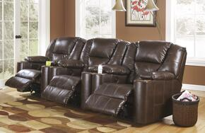 Paramount DuraBlend 7640106SET Home Theater Seating with 3 Power Recliners in Brindle