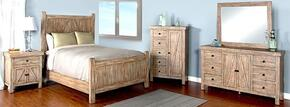 Durango Collection 2307WBKBDM2NC 6-Piece Bedroom Set with King Bed, Dresser, Mirror,  2 Nightstands and Door Chest in Weathered Brown Finish