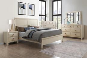 Global Furniture USA LUCASCREAMQBSET