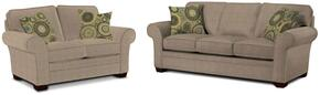 Zachary Collection 7902Q1878593410545SL 2-Piece Living Room Set with Sofa and Loveseat in Grey with Affinity Finish