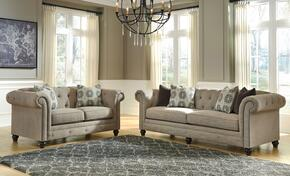 Azlyn Collection 99402SL 2-Piece Living Room Set with Sofa and Loveseat in Sepia