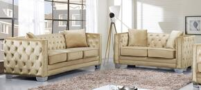 Reese Collection 648-BE-S-L 2 Piece Living Room Set with Sofa and Loveseat in Beige
