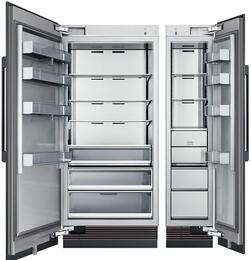 "54"" Panel Ready Side-by-Side Column Refrigerator Set with DRZ18980RAP 18"" Right Hinge Freezer, and DRR36980LAP 36"" Left Hinge Refrigerator"
