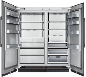 "66"" Panel Ready Side-by-Side Column Refrigerator Set with DRR30980RAP 30"" Right Hinge Refrigerator, DRZ36980LAP 36"" Left Hinge Freezer, and Installation Kit"