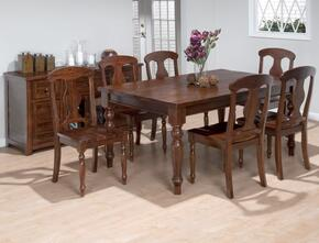 733-66SET7W Urban Lodge Fixed Top Dining Table with 6 Dining Chairs