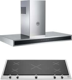 "2-Piece Stainless Steel Kitchen Package with PM360IGX 36"" Induction Cooktop and KG36CONX 36"" Wall Mount Hood"