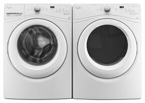 "White Front Load Laundry Pair with WFW7590FW 27"" Washer and WED7590FW 27"" Electric Dryer"