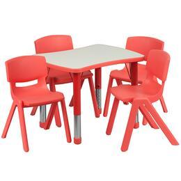 Flash Furniture YUYCY0980034RECTTBLREDGG
