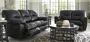 Maggie Collection MI-6841882PC-BLAC 2 PC Living Room Set with Reclining Sofa + Reclining Loveseat in Black Color