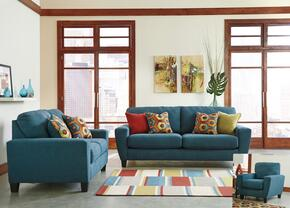 Sagen 9390238SET3PC 3-Piece Living Room Set with Sofa, Loveseat and Chair in Teal