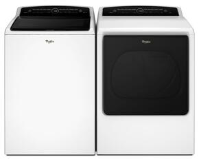 "Cabrio White Top Load Laundry Pair with WTW8000DW 27.5"" Washer and WED8000DW 29"" Electric Dryer"