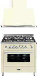 2-Piece Antique White Kitchen Package with UMT906DMPA 36