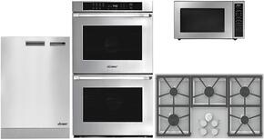 "Dacor Distinctive Series 4-Piece Stainless Steel kitchen Package With DTCT365GSLP 36"" Gas Cooktop, DMW2420S 24"" Microwave, ADMWTK301S Trim Kit, DTO230S 30"" Electric Double  Wall Oven and DDW24S 24"" Built In Dishwasher"