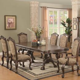 Andrea 103111SETA 7 PC Dining Room Set with Table + 4 Side Chairs + 2 Arm Chairs in Brown Cherry