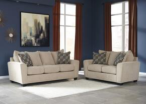 Wixon Collection 57003SL 2-Piece Living Room Set with Sofa and Loveseat in Putty