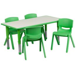 Flash Furniture YUYCY0600034RECTTBLGREENGG
