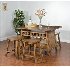 Cornerstone Collection 1398BMDT4S 5-Piece Dining Room Set with Dining Table and 4 Stools in Burnished Mocha