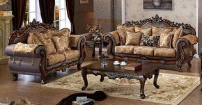 Seville 693-S-L 2 Piece Living Room Set with Sofa and Loveseat in Cherry Finish