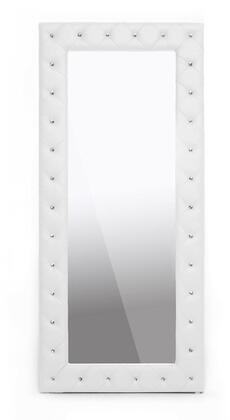 Wholesale Interiors BBTM27WhiteMirror Baxton Studio Stella Series Rectangular Portrait Floor Mirror