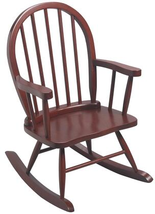 Gift Mark 3600X Windsor Childrens Rocking Chair with Solid Wood Construction, Smooth Armrests with Rounded Backrest and Beautiful Timeless Finish in