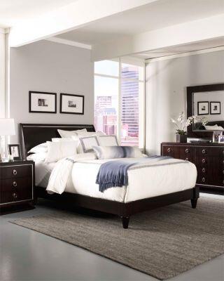 Broyhill PINSTRIPEBEDKSET4 Pinstripe King Bedroom Sets