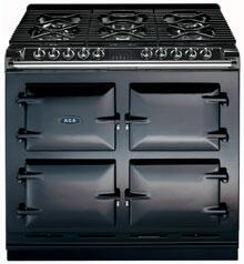 AGA A64LPBLK  Dual Fuel Freestanding Range with Sealed Burner Cooktop, 4.5 cu. ft. Primary Oven Capacity, in Black
