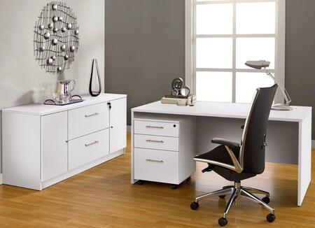 Unique Furniture 1C100008M Executive Office Desk with Credenza