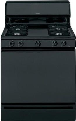 "Hotpoint RGB525DEDBB 30""  Gas Freestanding Range with Sealed Burner Cooktop, 4.8 cu. ft. Primary Oven Capacity, Broiler in Black"