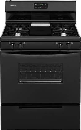 """Frigidaire FFGF3012T 30"""" Freestanding Gas Range with 4.2 cu. ft. Capacity, 2 Oven Racks, Broil and Serve Drawer, 4 Sealed Gas Burners, and Low Simmer Burner, in"""