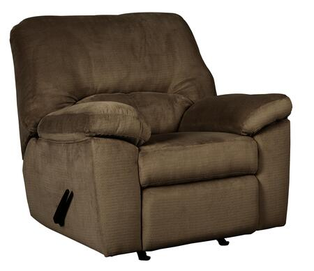 Rocker Recliner in Chocolate Brown