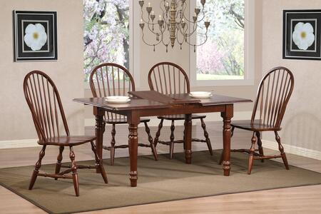 Sunset Trading DLUTLB3660C30CT5PC Andrews Dining Room Sets