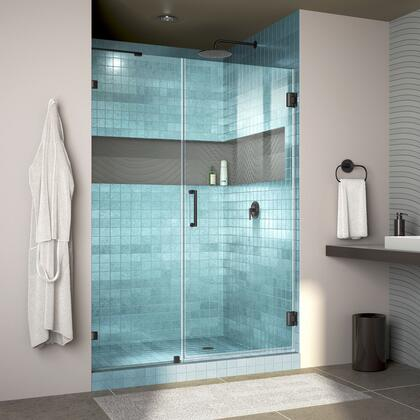 Unidoor Lux Shower Door RS30 30D 22IP 09 Blue Tile