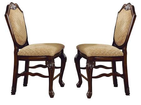 Acme Furniture 64084 Chateau De Ville Series Traditional Fabric Wood Frame Dining Room Chair