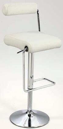 Chintaly 0979AS Roll Back Pneumatic Gas Lift Adjustable Height Swivel Stool