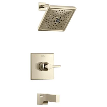 Zura T14474-PN Delta Zura: Monitor 14 Series H2Okinetic Tub and Shower Trim in Polished Nickel