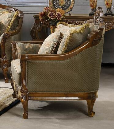 Homey Design HD09CH Fabric Armchair with Wood Frame