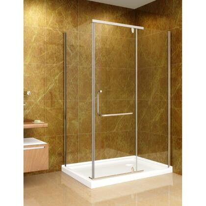 """Aston Global SD975-I-8-X 48"""" x 35"""" Shower Enclosure with Shower Base in Chrome Finish with 8mm Glass - X Hand Drain"""