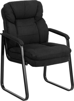 """Flash Furniture GO-1156-XX-GG 20"""" Microfiber Executive Side Chair with Sled Base, Contoured Cushions, Thick Padded Seat and Back, Curved Padded Arms, and Floor Glides"""